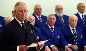 Prince Charles reads a message from the Queen to mark 50 years since the Aberfan disaster.