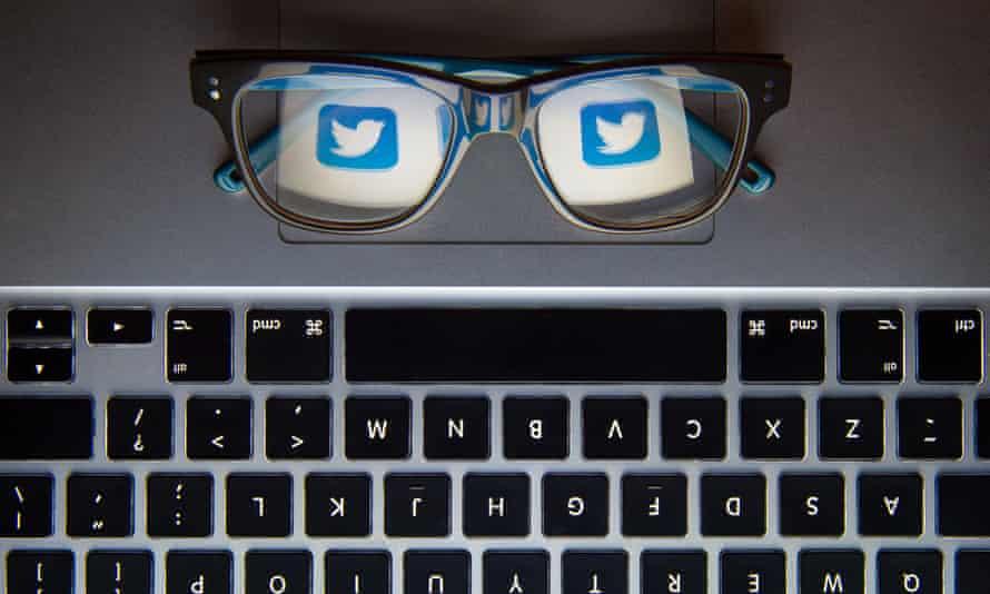 a tweeter's keyboard.