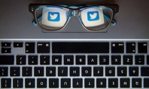 Twitter trolls<br>File photo dated 30/11/15 of the logo of social network site Twitter reflected in a pair of glasses as the social media giant has pledged to clamp down on trolls once and for all, according to reports. PRESS ASSOCIATION Photo. Issue date: Saturday December 26, 2015. Malicious users of the site are said to be hampering its efforts to be a frontrunner in the online news market and its European head, Bruce Daisley, told the Independent Twitter was committed to cleansing the service as it enters its 10th year. See PA story TECHNOLOGY Twitter. Photo credit should read: Dominic Lipinski/PA Wire