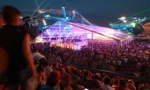A crowd at Melt festival in Ferropolis in Gräfenhainichen, Germany