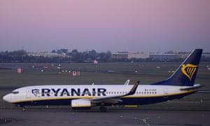Ryanair aircraft at Dublin airport