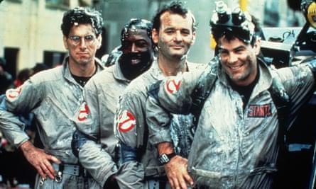 First team … Harold Ramis, Ernie Hudson, Bill Murray and Dan Aykroyd in 1984's Ghostbusters.