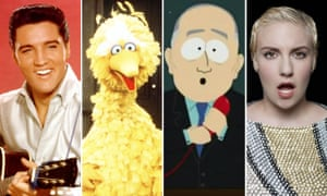 The company we keep … Elvis Presley, Big Bird, South Park, Lena Dunham have all been censored.