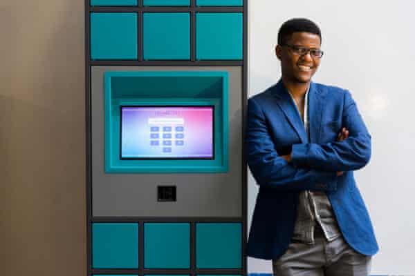 Neo Hutiri with his Pelebox smart locker
