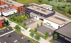 Artist's impression of a new grammar school in Sevenoaks