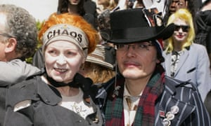 Vivienne Westwood and Stuart Goddard aka Adam Ant at Malcolm McLaren's funeral in London, 2010.