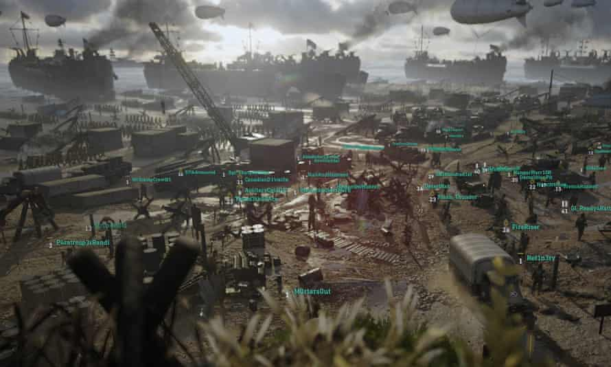 The new HQ are of Call of Duty WWII is a multiplayer social are where players can meet, challenge each other and socialise