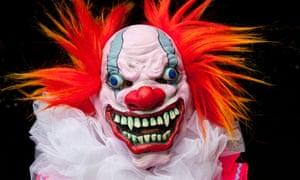 One reveller clowns around for Halloween.