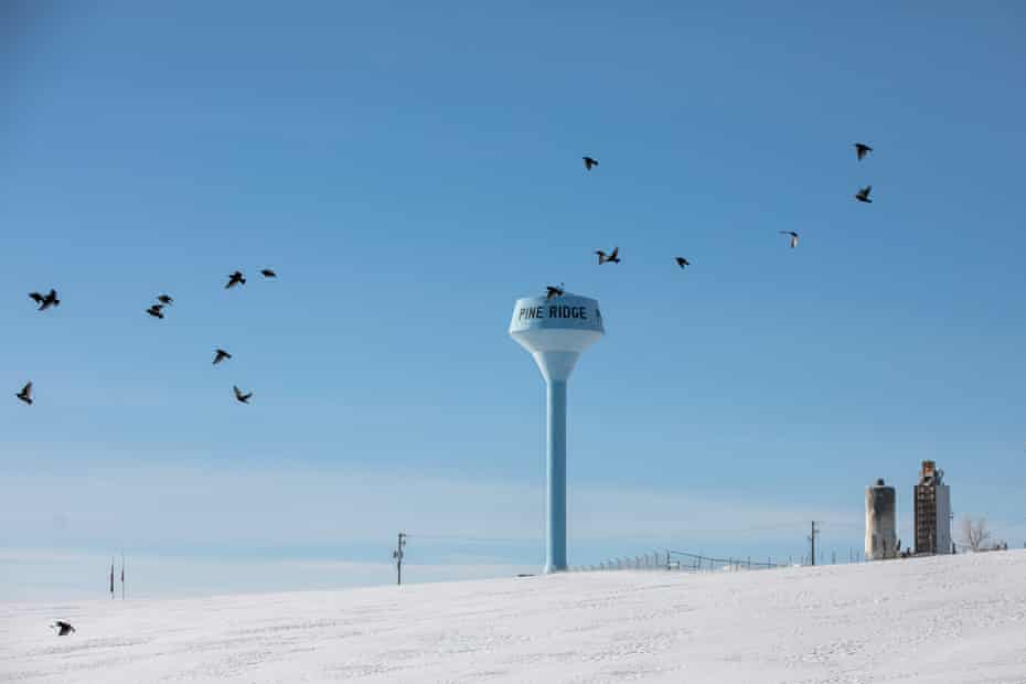 The village of Pine Ridge, S.D., on the Pine Ridge Indian Reservation, is photographed Sunday, March 10, 2019. Although the Mni Wiconi drinking-water pipeline project can deliver up to 20 million gallons of treated drinking water daily to an estimated 52,000 people — perhaps one-fourth of them white, and the rest Native American — it's also a project that has been beset by missed deadlines, overspending and incompletion, especially at the Native American ends of the pipeline.