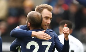 Christian Eriksen happy with his day's work at Swansea.