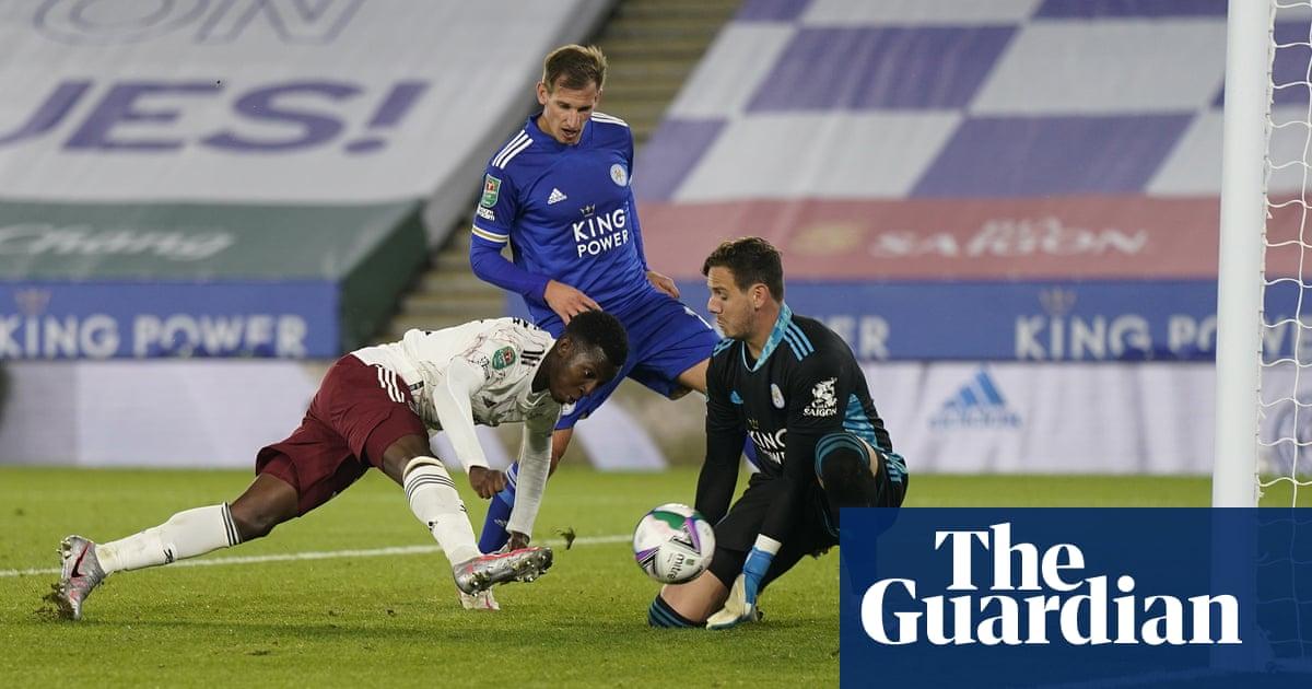 Eddie Nketiahs poaching instinct smooths Arsenals route past Leicester