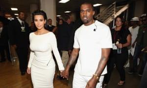Kim Kardashian y Kanye West en 2012