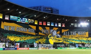 Portland's elaborate, colorful banners, or tifos, are a sight to behold.