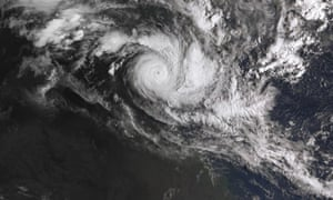 Satellite image of Cyclone Trevor, which has forced the Northern Territory's largest evacuation in 45 years.