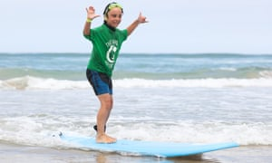 Alex Bird, who has autism, got a confidence boost from surf therapy.