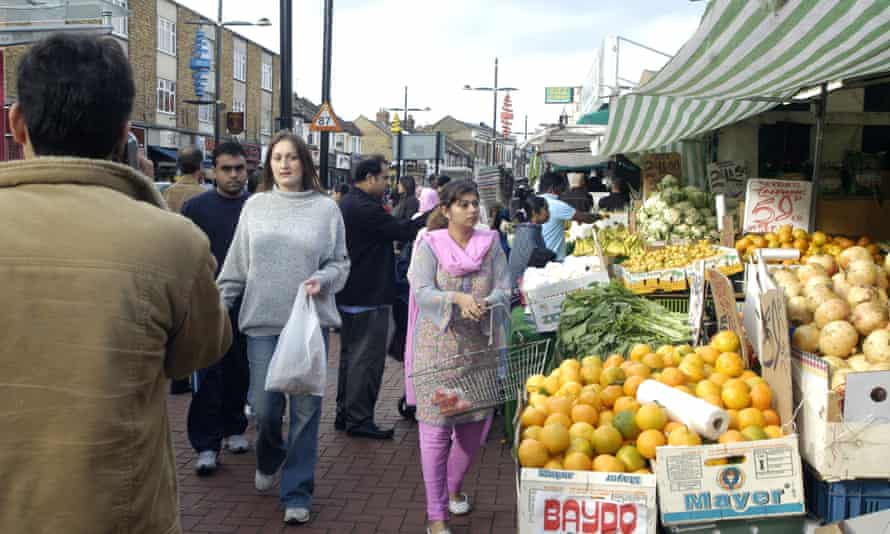 Busy streets in the London borough of Newham.