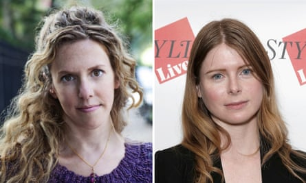 Authors Robin Wasserman, left, and Emma Cline.