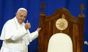Pope Francis approved of the chair made for him by prisoners.