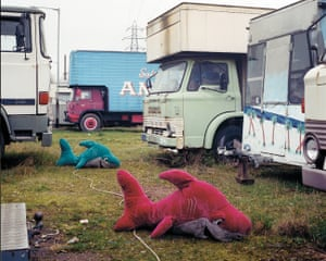 Among the caravans of a travelling circus, Lower Lea Valley, 2006