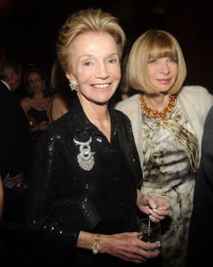 Lee Radziwill and Anna Wintour at the American Ballet Theater's annual Spring Gala at the Metropolitan Opera House in New York, May 2009