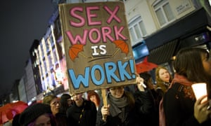 A march organised by the English Collective of Prostitutes to protest against violence against women.