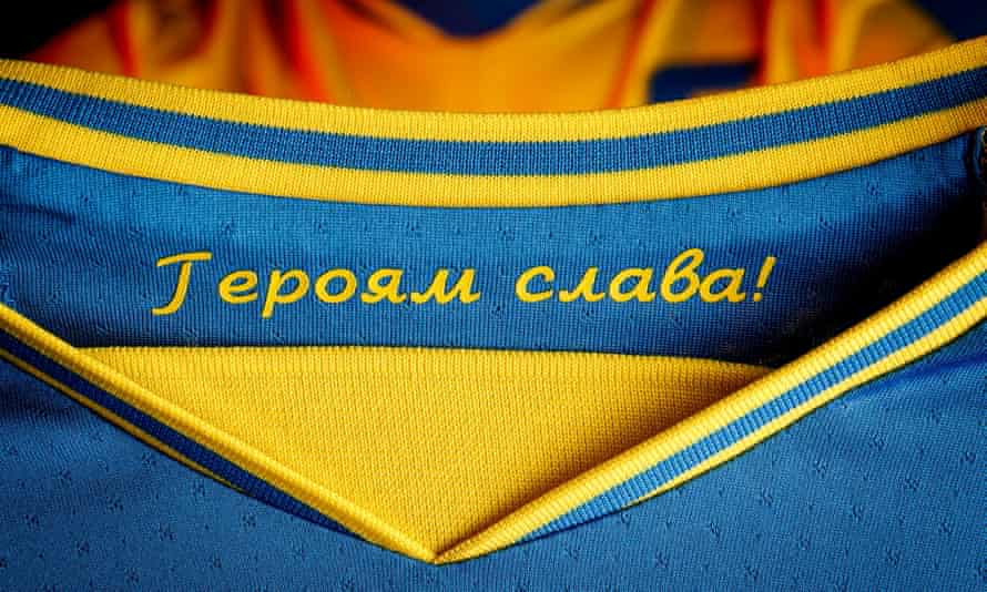 Ukraine's Euro 2020 kit includes the slogan 'Glory to the heroes'