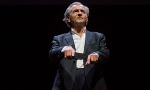 Bernard-Henri Lévy performs his play Last Exit before Brexit in London.