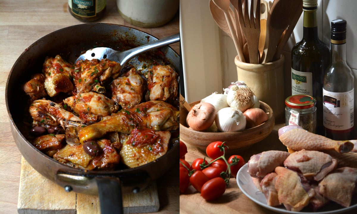 Rachel Roddy's braised chicken with tomatoes and vinegar ...