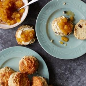 Tamal Ray's scones with pineapple jam.