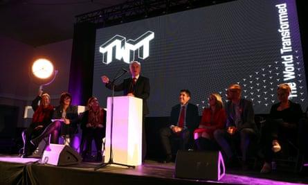 John McDonnell speaks at Momentum's the World Transformed event