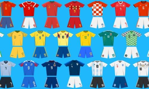 1bd1f1be637 World Cup kits through the ages