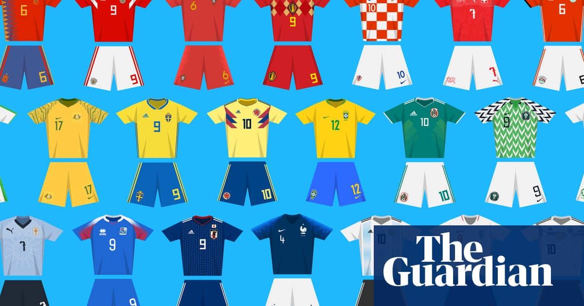 size 40 44e90 0ce63 World Cup kits through the ages | Football | The Guardian
