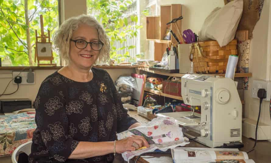 Woman of the cloth: Anne Kelly in her studio.