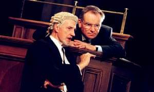 Edward Petherbridge and Jeffrey Archer in The Accused at Theatre Royal Haymarket.