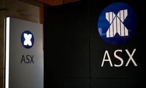 The Australian Stock Exchange in Sydney.