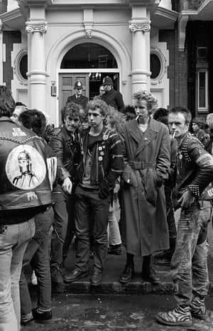 'There was real sadness on their faces': Punks at Sid Vicious's Memorial March, London, 1979.