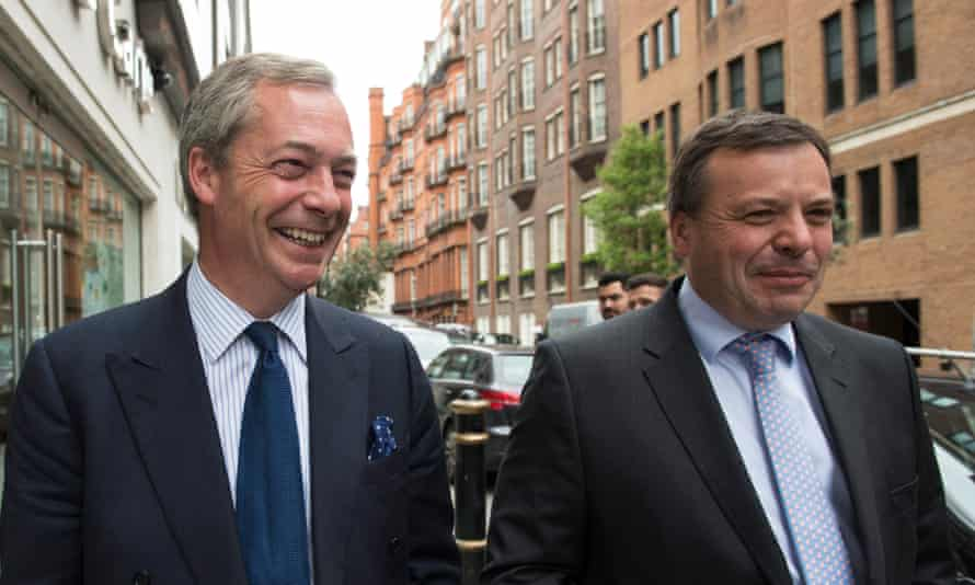Nigel Farage and Arron Banks.