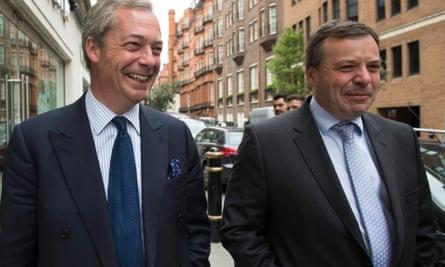 Nigel Farage (left) and Arron Banks