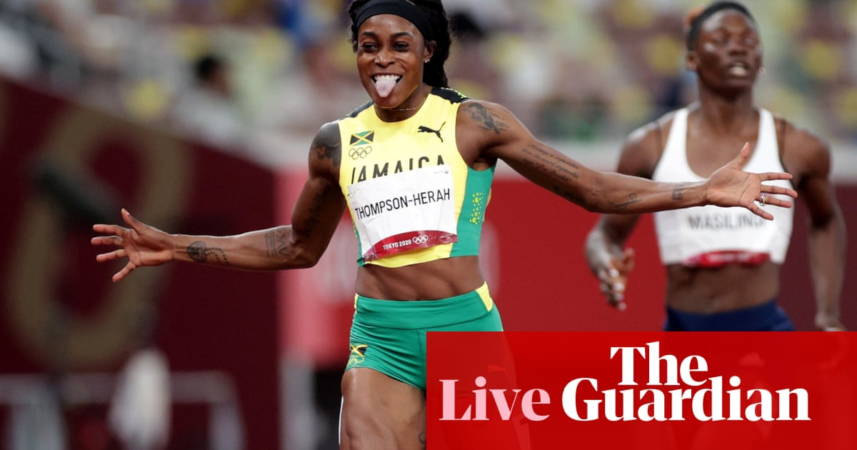 Tokyo 2020 Olympics: Thompson-Herah completes double in 200m – live!