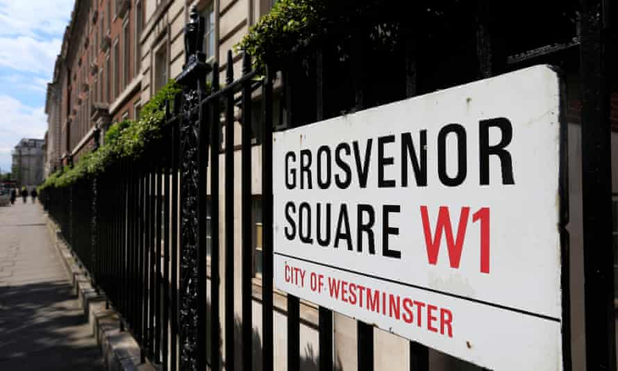 Grosvenor Square in London, owned by the Duke of Westminster.