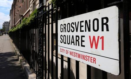 Grosvenor Square, central London.