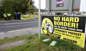 A protest against Brexit and the possible imposition of any hard border between Northern Ireland and Ireland.