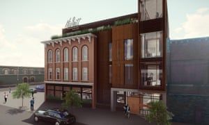 The planned boutique hotel, which Redhouse will serve as a prototype of biocycling and the possibilities of sustainable architecture.