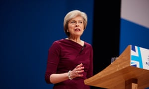 Prime minister Theresa May making her keynote speech to the Conservative party annual conference at Symphony Hall in Birmingham.