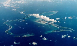 Diego Garcia, the largest island in the Chagos archipelago and site of a major United States military base.