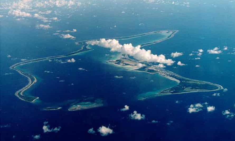 Diego Garcia, the largest island in the Chagos archipelago