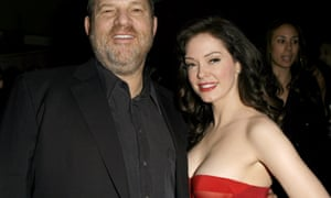 Harvey Weinstein and Rose McGowan at a Los Angeles film premiere, 2007.