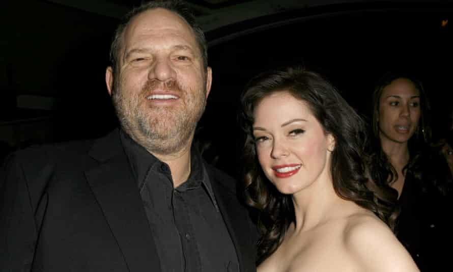 Harvey Weinstein and Rose McGowan at the 2007 LA  premiere of Grindhouse.