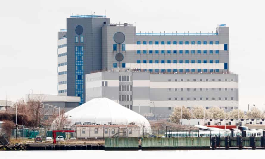 Sections of the complex at Rikers Island in New York, New York, on 31 March.