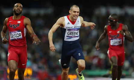Dai Greene competing in the 2012 Olympics